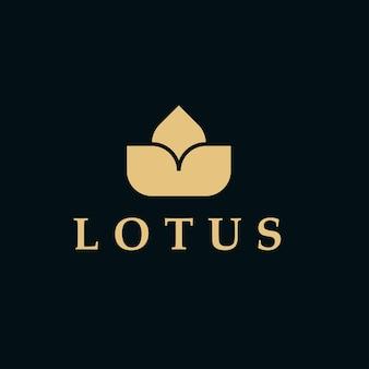 Modelo de logotipo de luxo da lotus para salão de beleza, empresa ou ilustração vetorial de joalheria