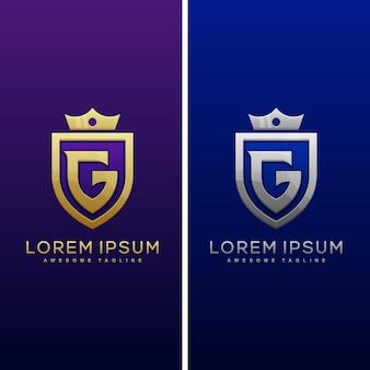 Modelo de logotipo de luxo letra g