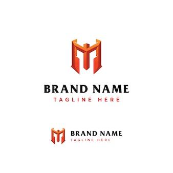Modelo de logotipo de luxo mytic letra m