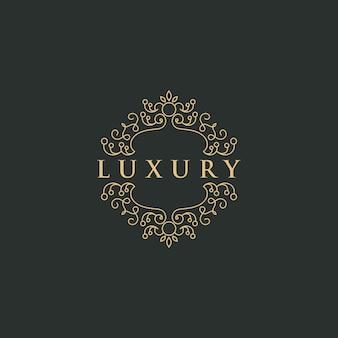Modelo de logotipo de luxo