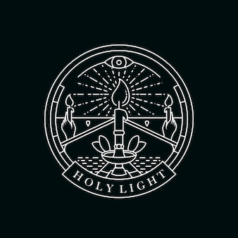 Modelo de logotipo de luz de velas