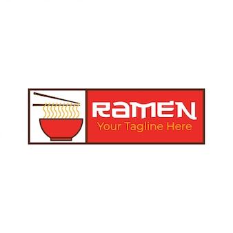 Modelo de logotipo de macarrão ramen