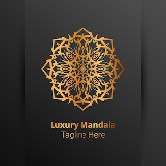 Modelo de logotipo de mandala ornamental de luxo