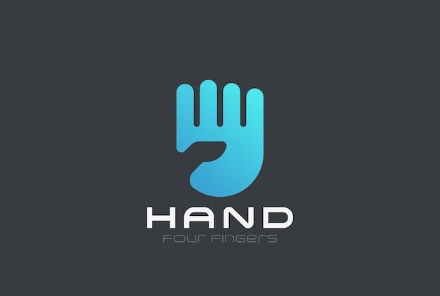 Modelo de logotipo de mão