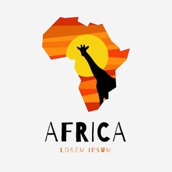 Modelo de logotipo de mapa criativo da áfrica