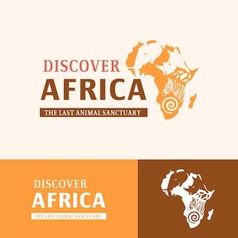 Modelo de logotipo de mapa da áfrica