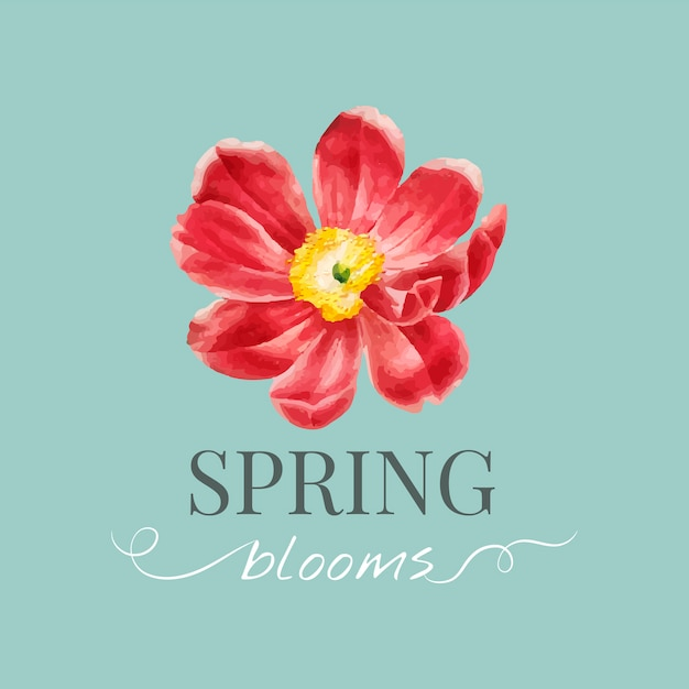 Modelo de logotipo de marca de flor