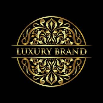 Modelo de logotipo de marca de luxo