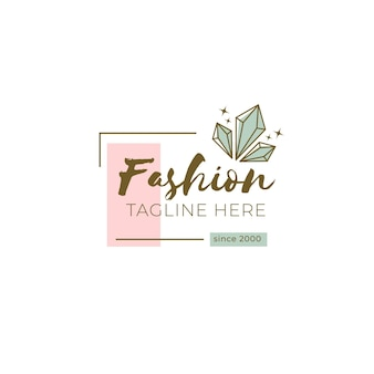 Modelo de logotipo de marca de moda com slogan