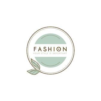 Modelo de logotipo de marca de moda