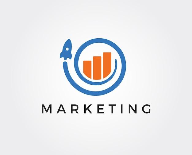 Modelo de logotipo de marketing