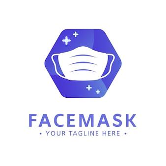 Modelo de logotipo de máscara facial