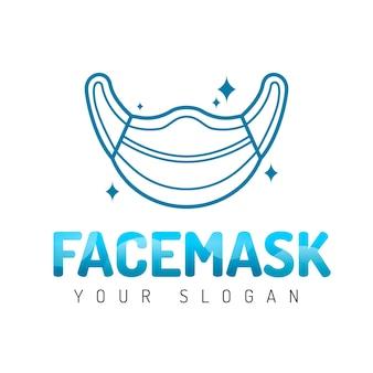 Modelo de logotipo de máscara médica criativa