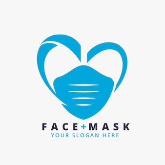Modelo de logotipo de máscara médica