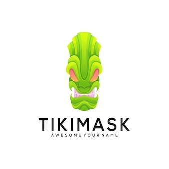 Modelo de logotipo de máscara tiki