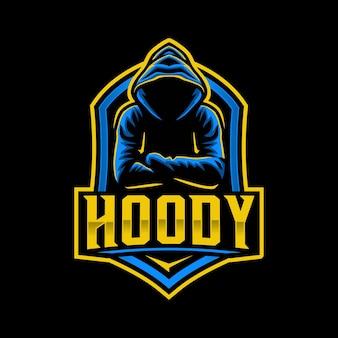 Modelo de logotipo de mascote com capuz