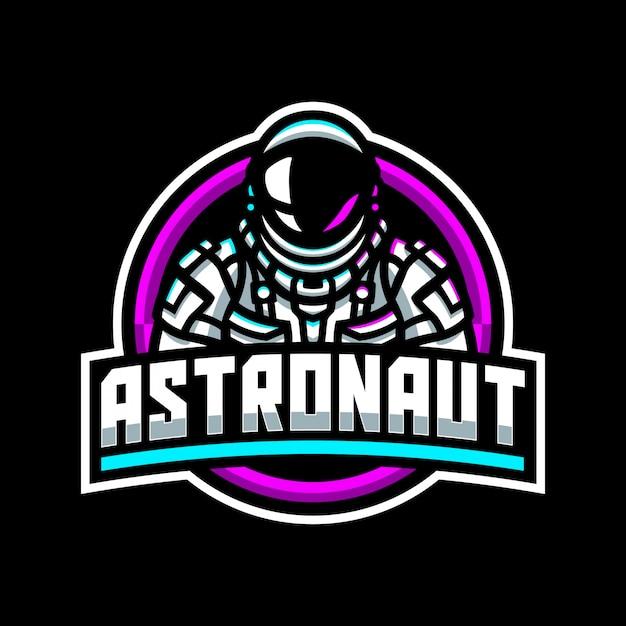 Modelo de logotipo de mascote de astronauta