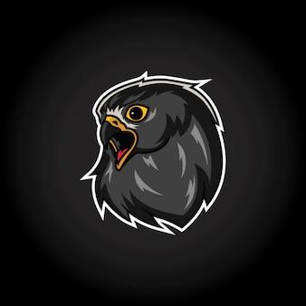 Modelo de logotipo de mascote de cabeça de águia
