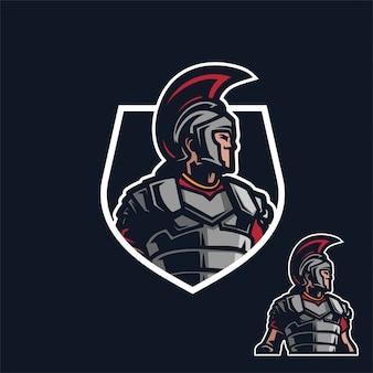 Modelo de logotipo de mascote sparta / spartan esport jogos