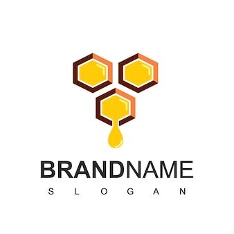 Modelo de logotipo de mel