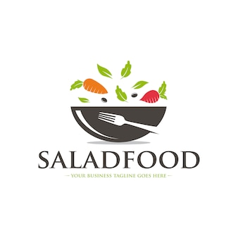 Modelo de logotipo de menu saudável