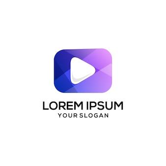 Modelo de logotipo de mídia de reprodução