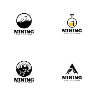 Modelo de logotipo de mineração