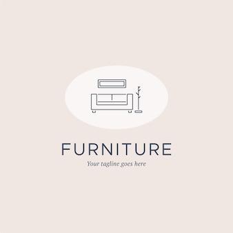 Modelo de logotipo de mobiliário minimalista