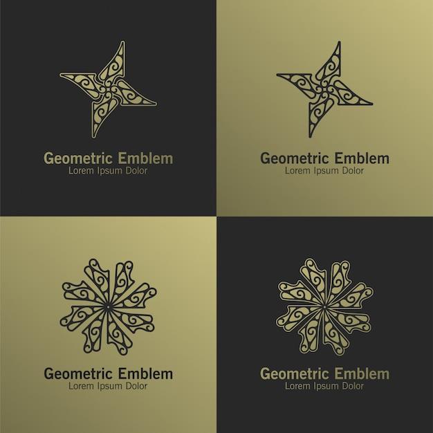 Modelo de logotipo de monograma de luxo