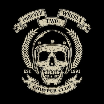 Modelo de logotipo de moto vintage