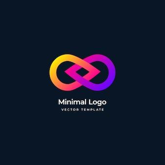 Modelo de logotipo de movimento infinito mínimo ilustração vetorial