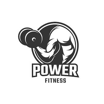 Modelo de logotipo de musculação fitness