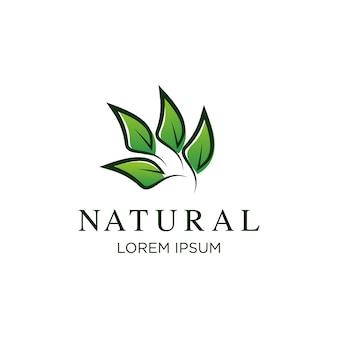 Modelo de logotipo de natureza, ilustração vetorial