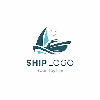 Modelo de logotipo de navio de cruzeiro