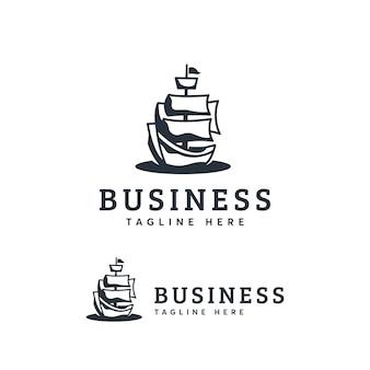 Modelo de logotipo de navio