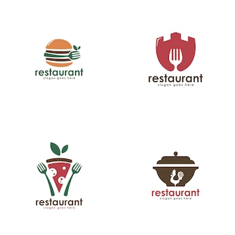 Modelo de logotipo de negócio de restaurante