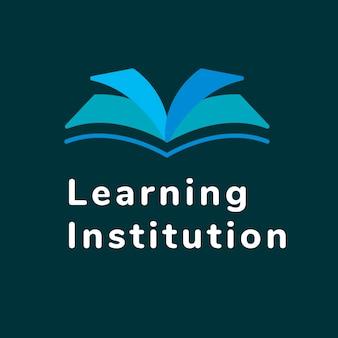 Modelo de logotipo de negócios de educação, vetor de design de marca, texto de instituição de ensino