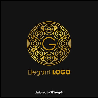 Modelo de logotipo de negócios elegante dourado