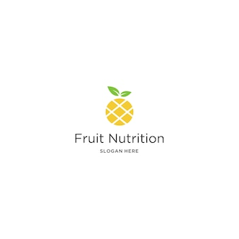 Modelo de logotipo de nutrição de fruta