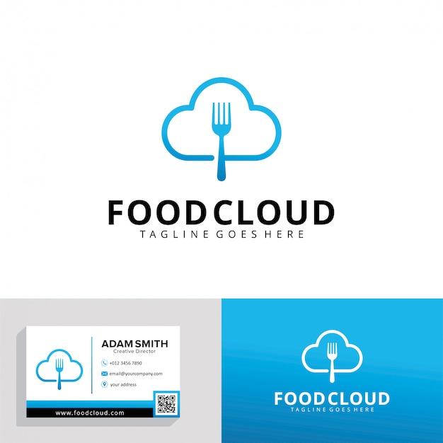 Modelo de logotipo de nuvem de alimentos