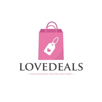 Modelo de logotipo de ofertas de amor