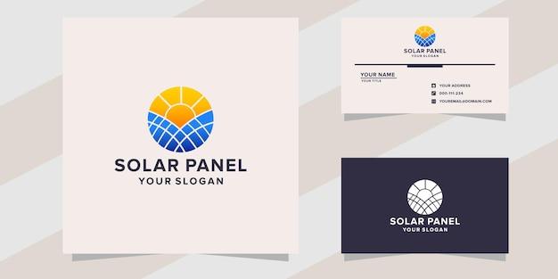 Modelo de logotipo de painel solar