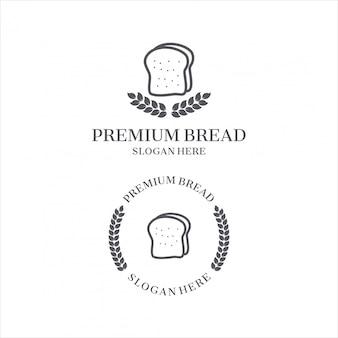 Modelo de logotipo de pão.