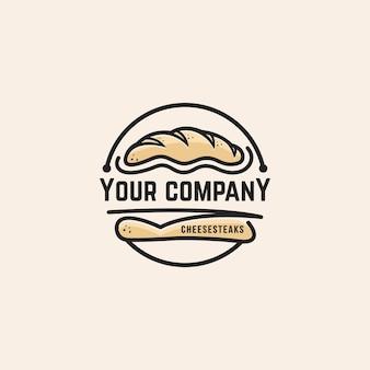 Modelo de logotipo de pão