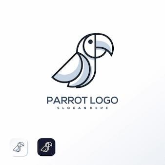 Modelo de logotipo de papagaio