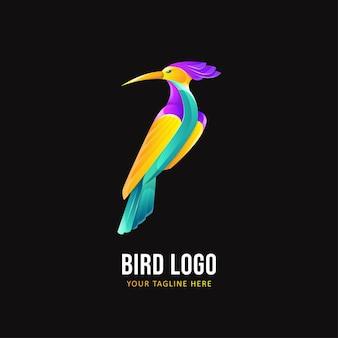 Modelo de logotipo de pássaro. logotipo do animal colorido