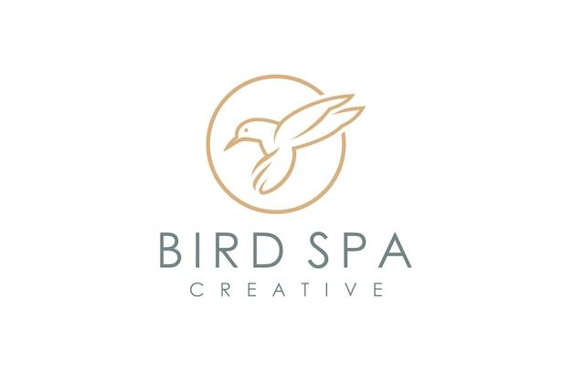 Modelo de logotipo de pássaro spa