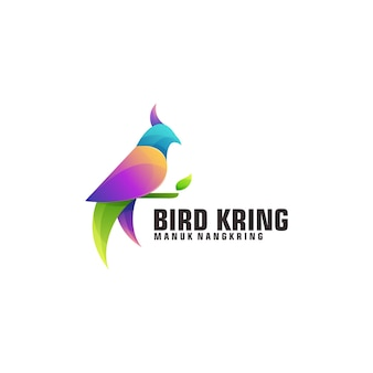 Modelo de logotipo de pássaro