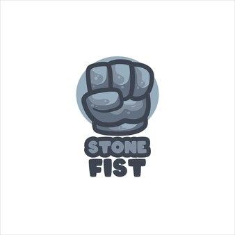 Modelo de logotipo de peixe de pedra