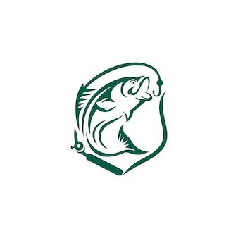 Modelo de logotipo de peixe